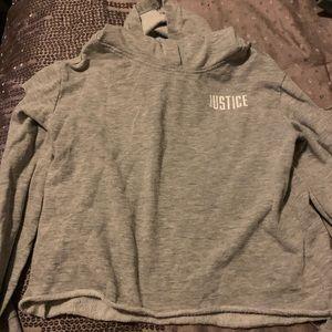 Justice gray hoodie